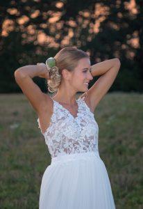 Svadobné šaty na ramienka