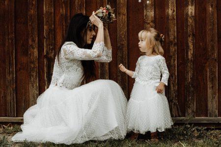Rovnaké šaty mama a dcéra