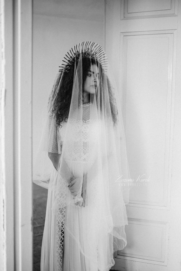 Boho svadobné šaty, Závoj
