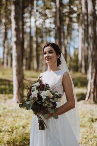 Svadobné šaty bez rukávov