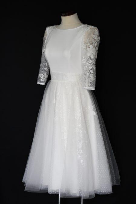 Retro svadobné šaty